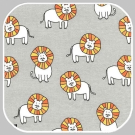 dandy lions on cotton flannel   CF7099-CLOU-D