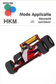 Strijkapplicatie | Race auto - Rood 25102-1SB