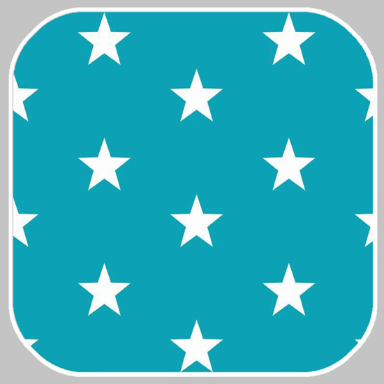katoen   ster   turquoise 04954.009