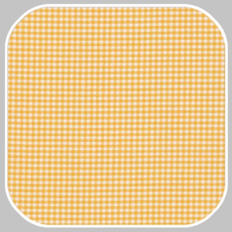 Katoen Ruit  | S | geel