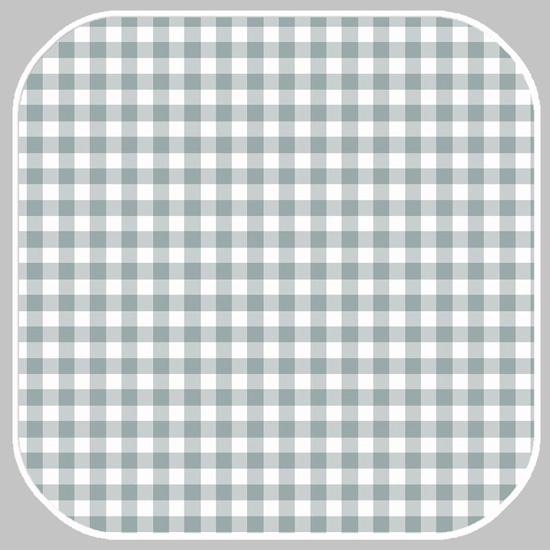 Katoen Ruit  -M | 03085.042-2 grijsgroen