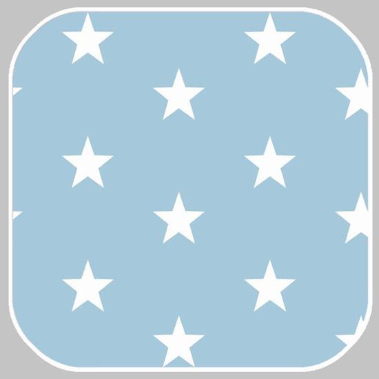 katoen | ster | lichtblauw 04954.010
