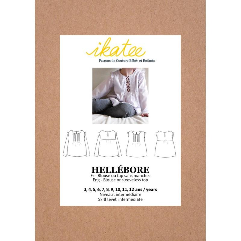 IKATEE   Hellebore  Blouse - Kids 3/12Y - Paper Sewing Pattern
