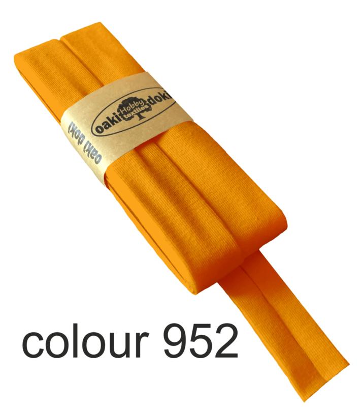 Tricot biaisband   Oranje - Neon   col. 952