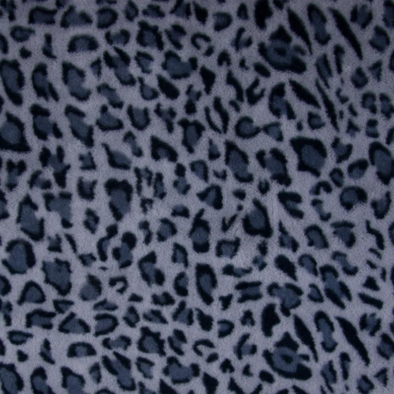 Imitatiebont Leopard -  Blue - Jeansblue