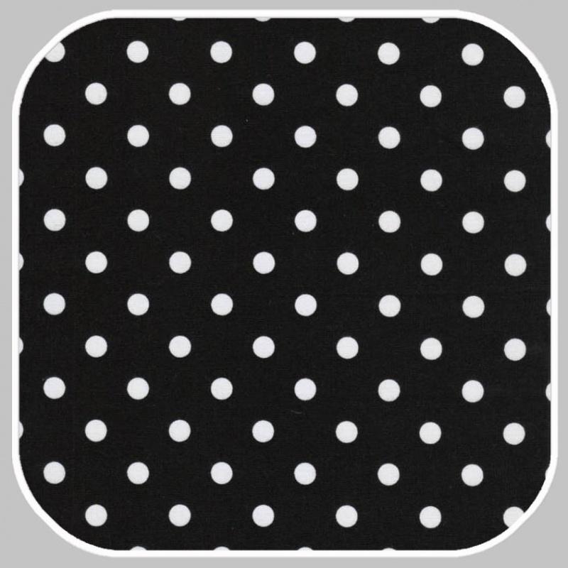 katoen Dot   S   zwart