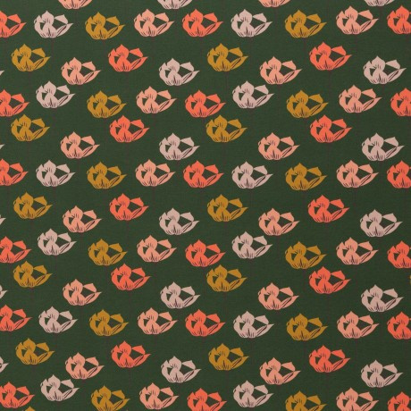 Tricot Print   Swafing   Blossom - Green