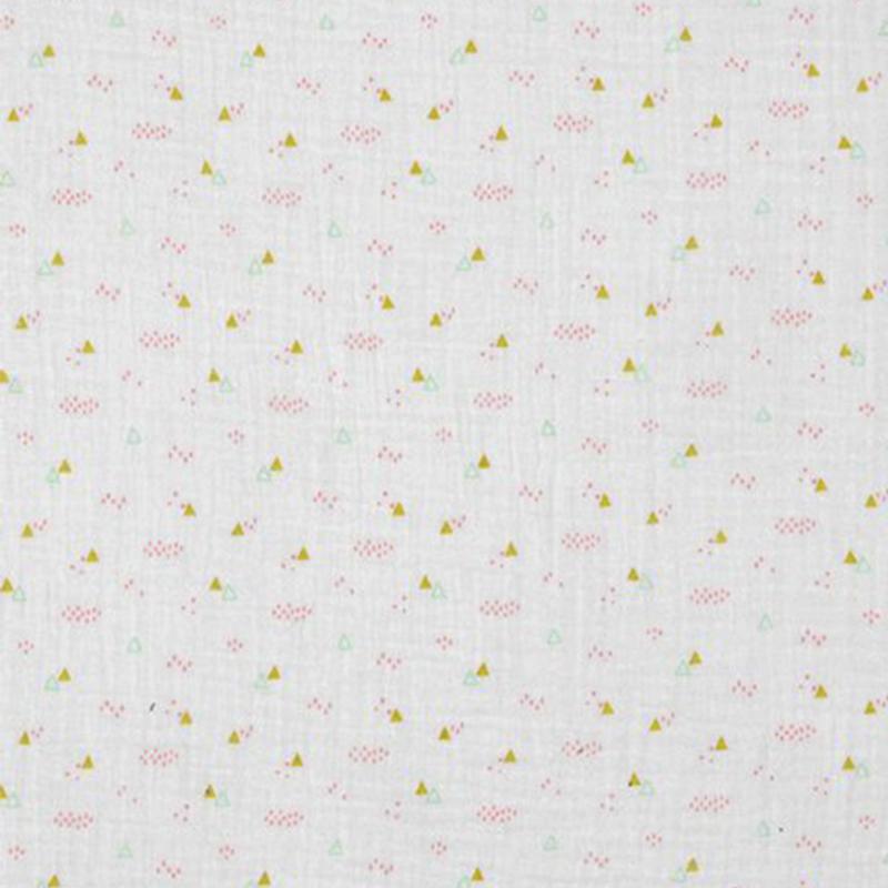 Double Gauze | Triangle Party - White
