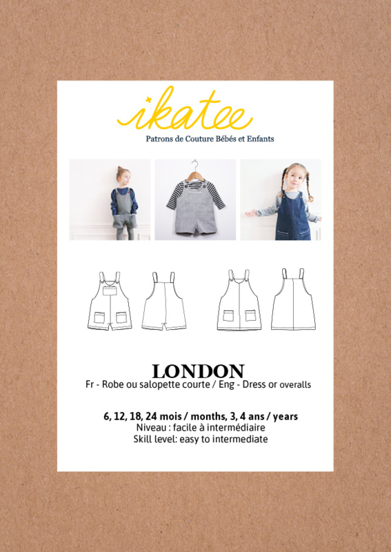 IKATEE | London | Baby Paper Sewing Pattern  - Easy 6 maanden - 4 jaar