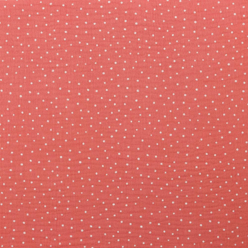 double gauze - baby cotton | Soft Red Stip