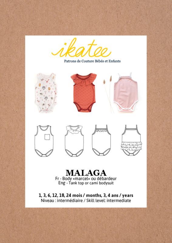 Ikatee | Malaga Bodysuit - Baby 1M/4Y - Paper Sewing Pattern
