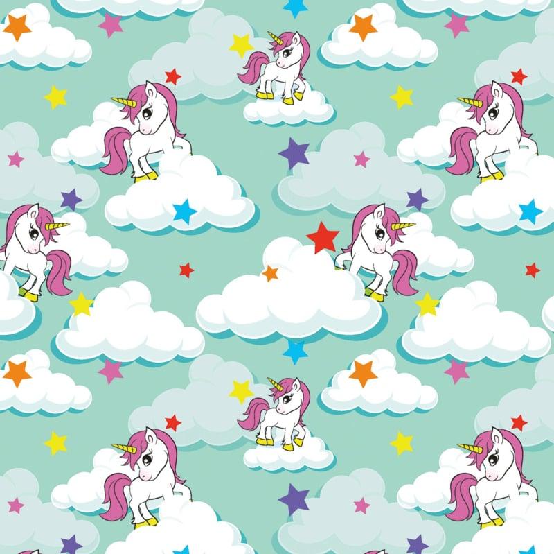Tricot Print | Rainbow - Unicorn - Mint