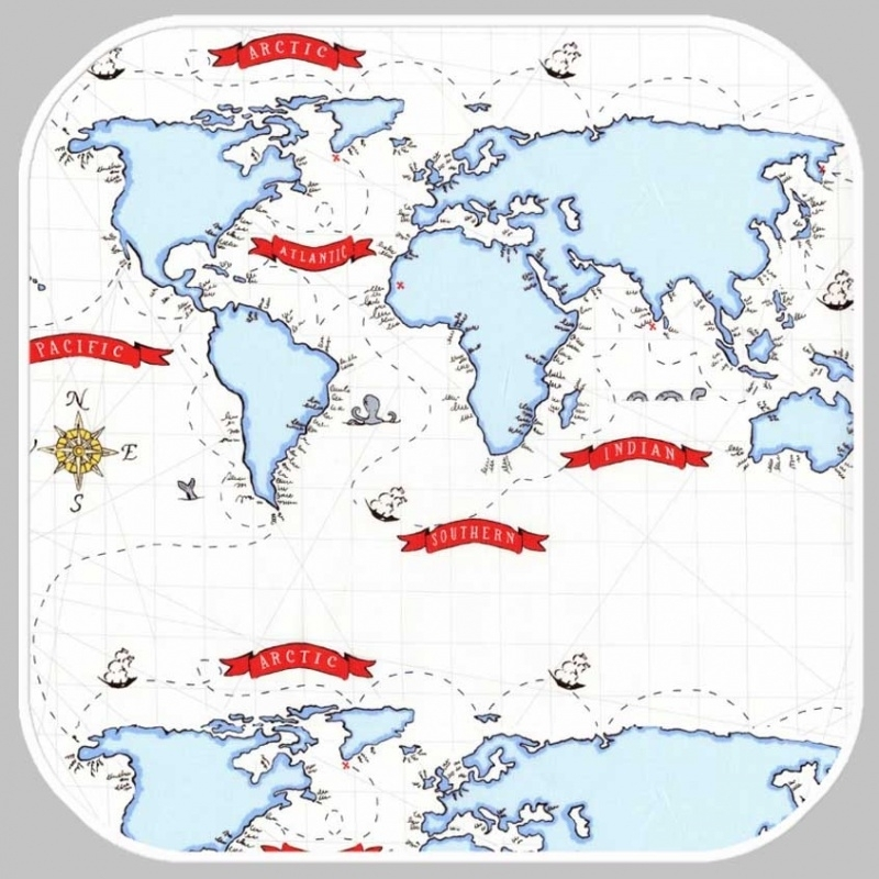 nautical map DC5624-WHIT