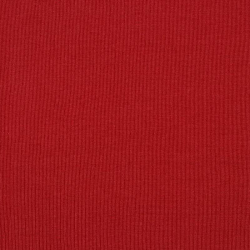 Boordstof GOTS Ribbed - Dark Red
