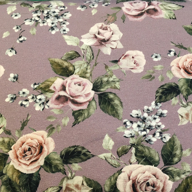 Tricot print | Roses | Pink | Swafing