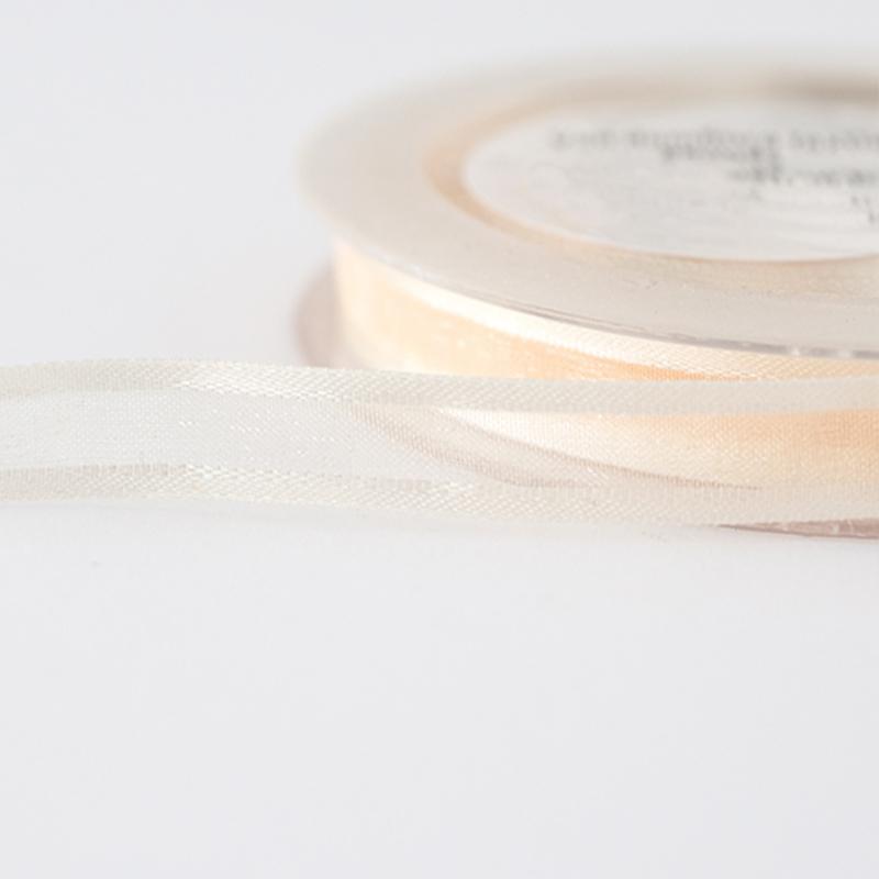 Organza lint | 10 mm | Creme