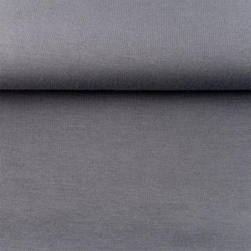 tricot boordstof uni | donkergrijs