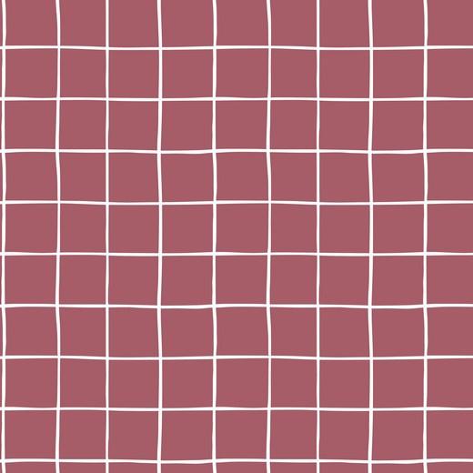 Soft Sweat GOTS | Grid - Mauve