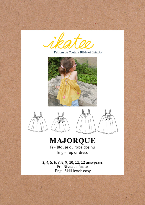 Ikatee Pattern | Majorque Duo - Top or dress - Girl 3/12