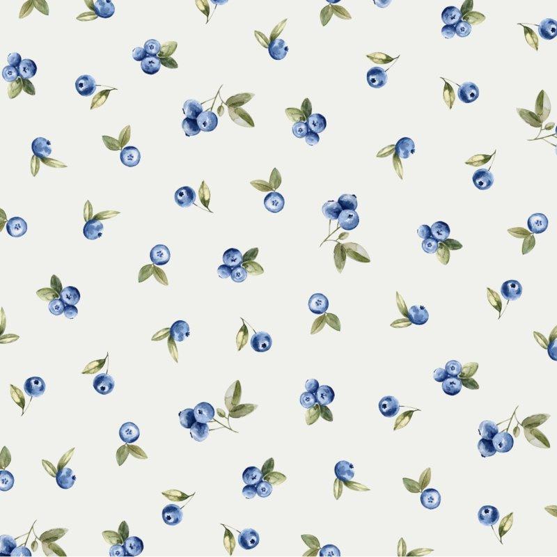 Family Fabrics | Tricot print | Blueberry