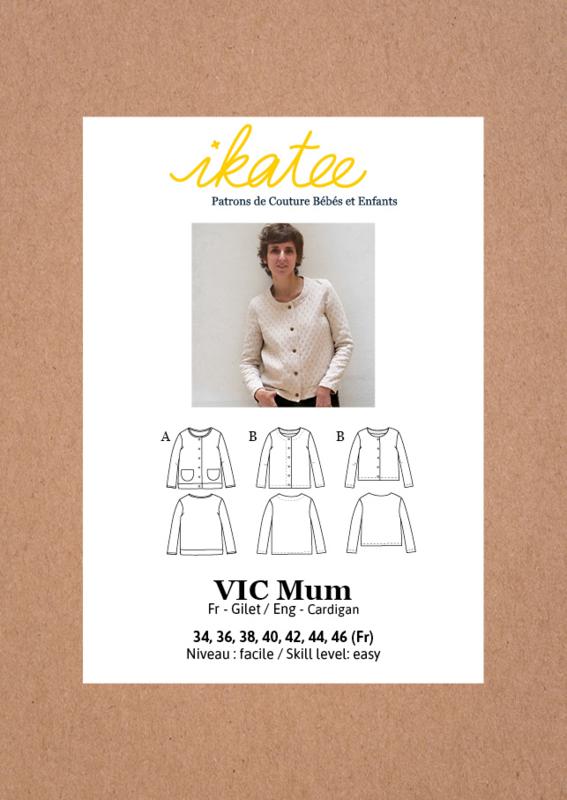 Ikatee | Vic Mum Cardigan - 34/46 - Paper Sewing Pattern