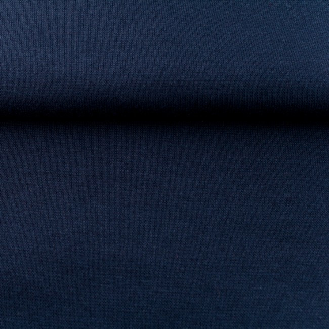 tricot boordstof uni | donkerblauw