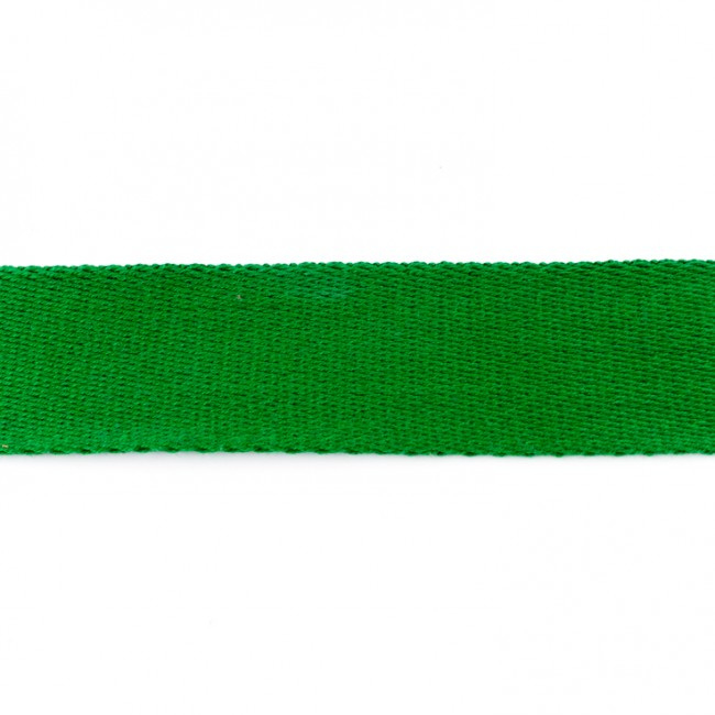 Tassenband Katoen | Grasgroen | 4cm breed