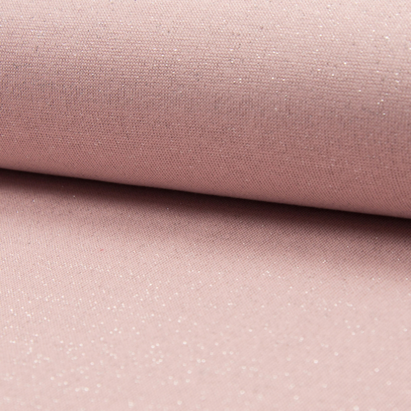 tricot boordstof | glitter | roze