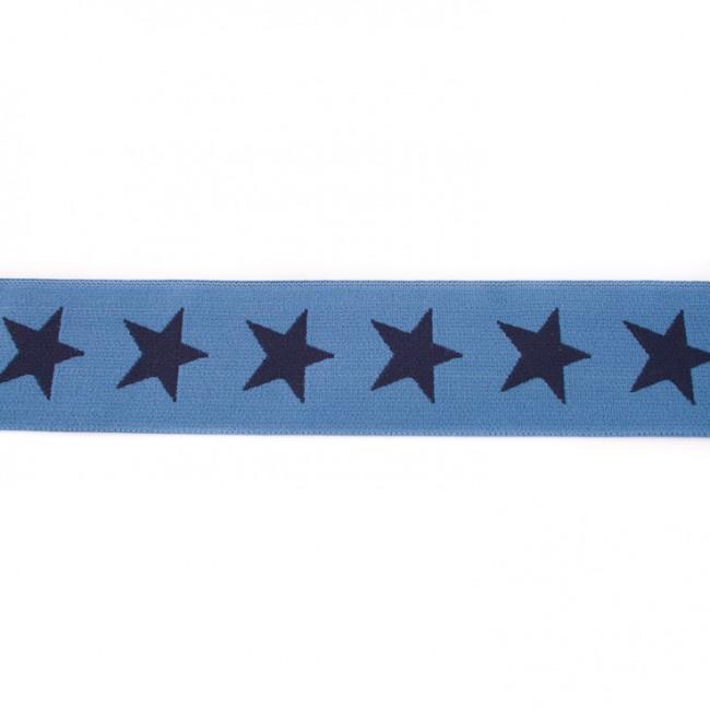 Elastiek  | 4 cm breed | Jeansblauw - Donkerblauw