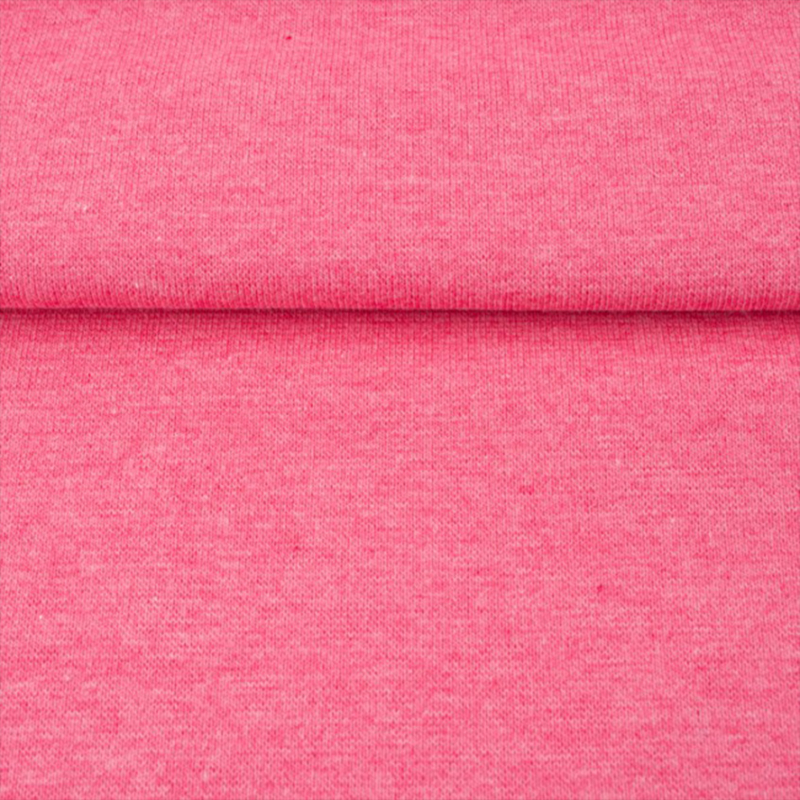tricot boordstof melange | donkerroze