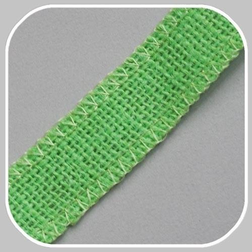 40891 jute band licht groen/25 mm
