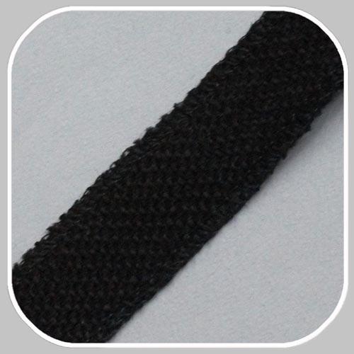 jute band zwart/ 25 mm