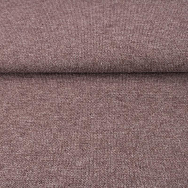 tricot boordstof melange | bruin