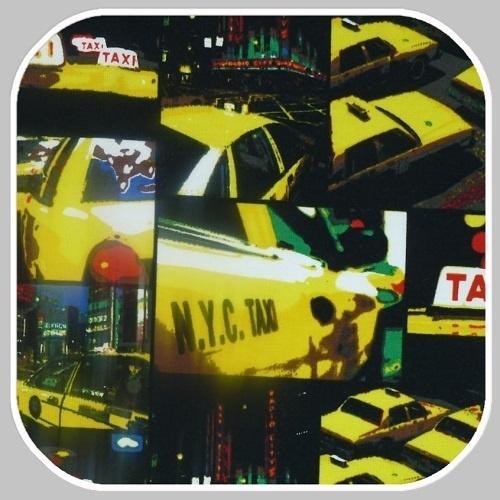 digitale katoenen tricot taxiprint