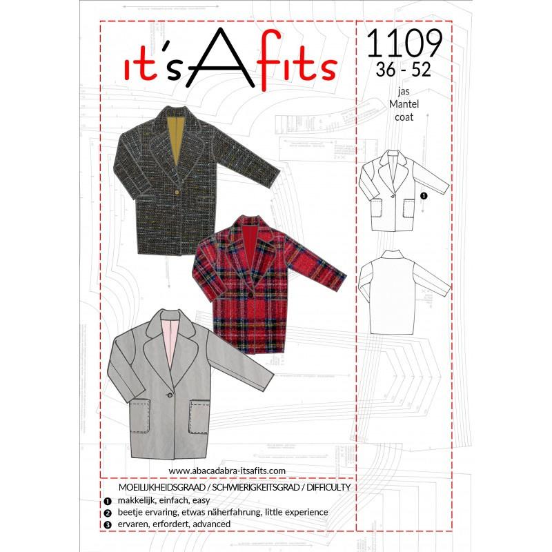 It'S A Fits | 1109  - Mantel maat 36 - 52