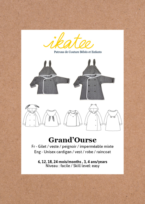 Ikatee Pattern | Grand'Ourse cardigan - Baby 6M/4Y