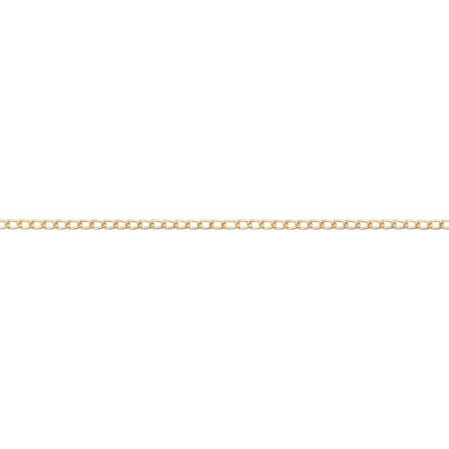 Schakelketting 1.0 mm   Goud