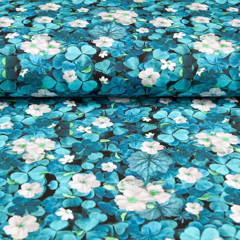 tricot digitaal | Klaver - Bloem | Blauw