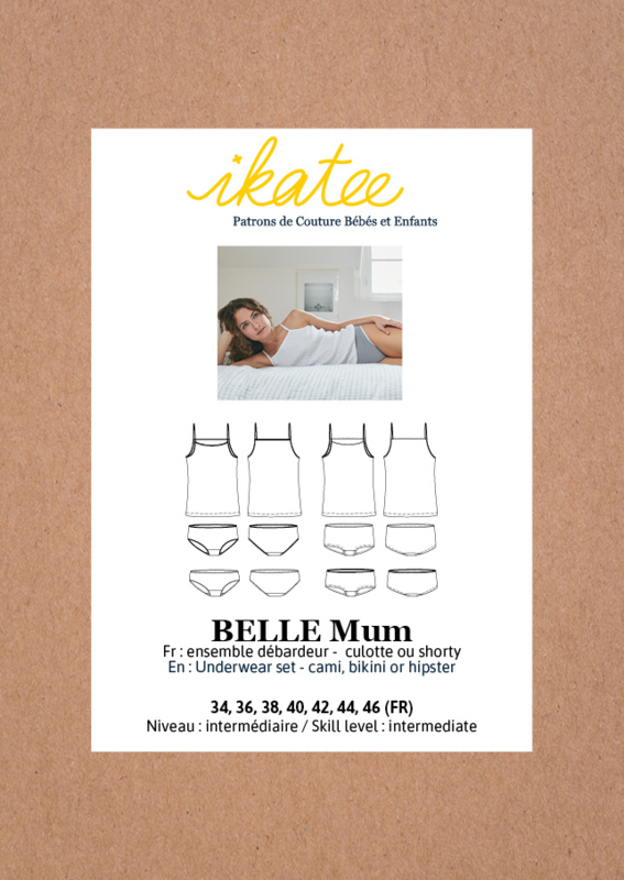 Ikatee | Belle Mum - underwear set - 34/46 - Paper Sewing Pattern