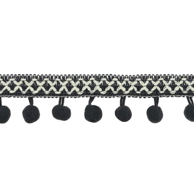 Bolletjesband   Cross - Donkergrijs  31619