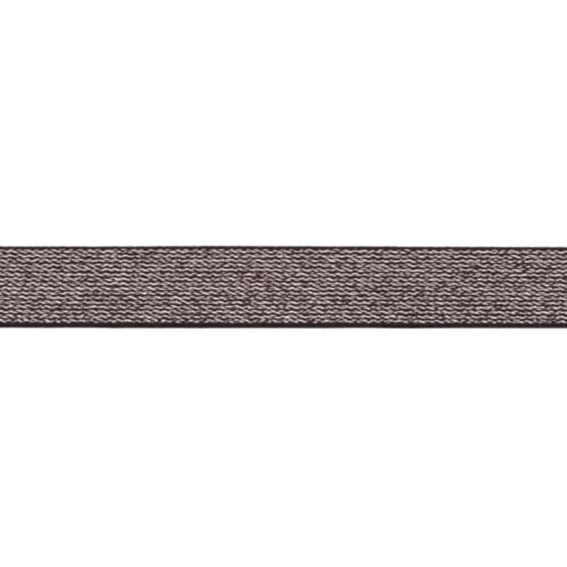 glitter elastiek   25 mm   zwart
