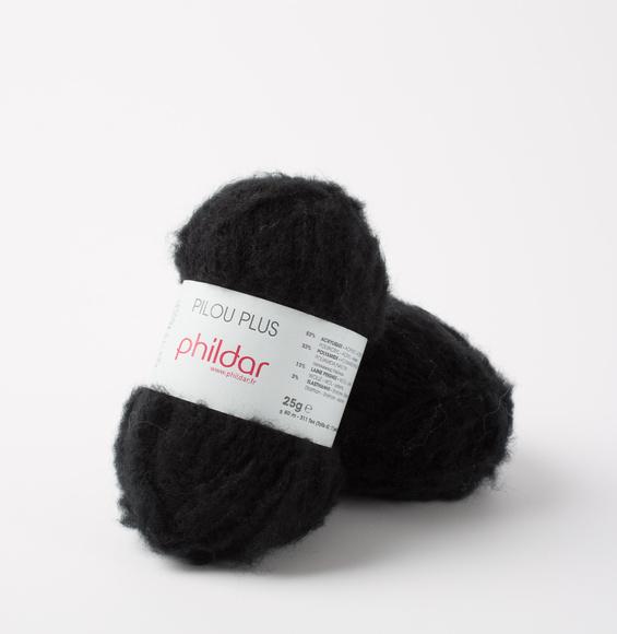 PILOU +  noir (elastisch garen)*