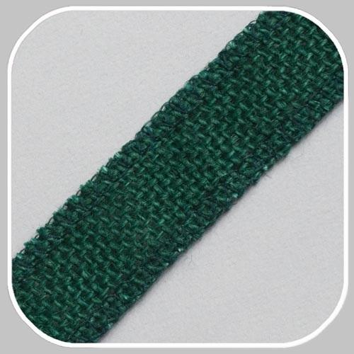 40898 jute band groen/ 25 mm