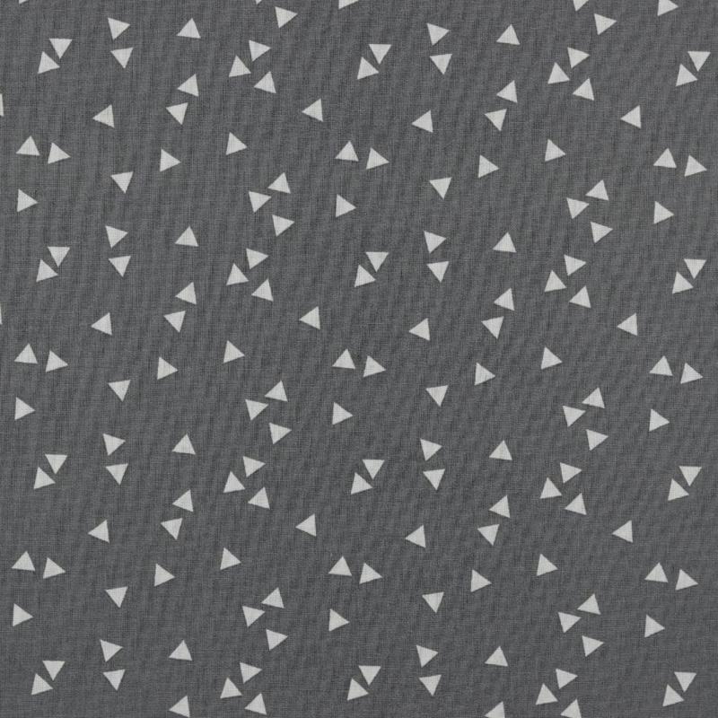Katoen Print | Triangel | Grijs - Wit