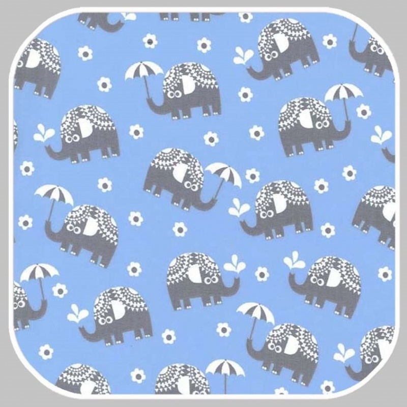 water for elephants on cotton flannel FX6288-BOY