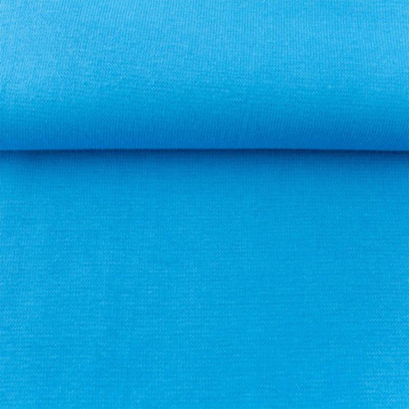 tricot boordstof uni   turquoise