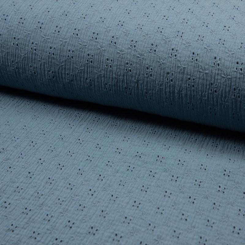 Bambino Embroidery   Dusty Blue