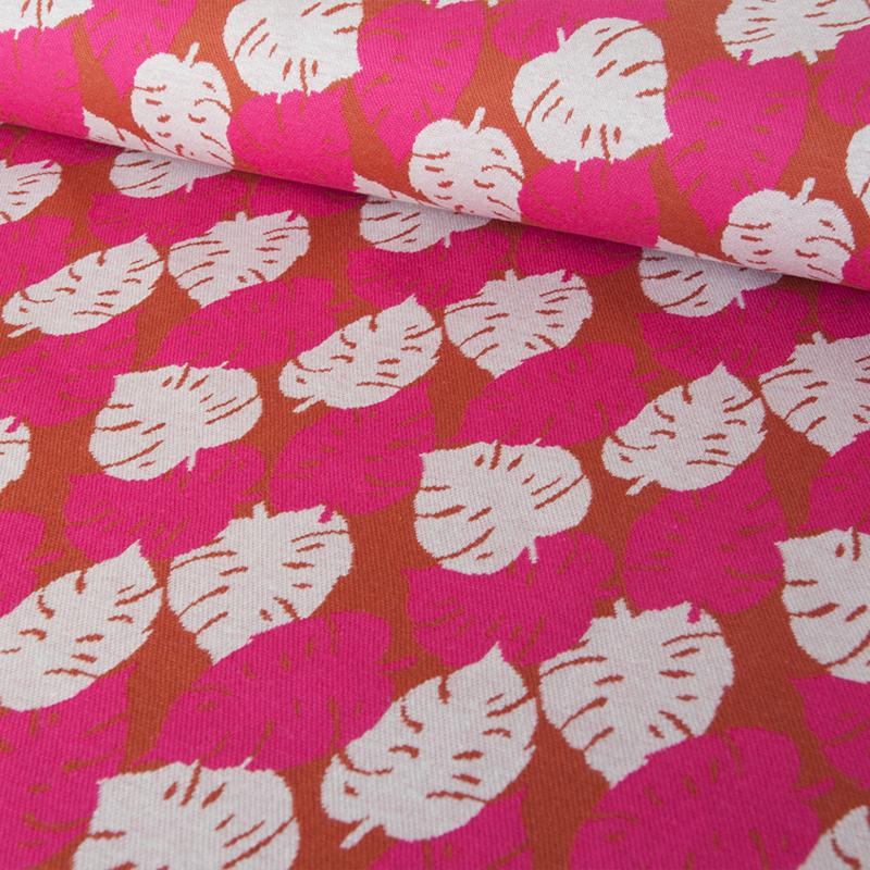 tricot - gebreid | Monstera Knit |  fuchsia | by Cherry Picking | Swafing