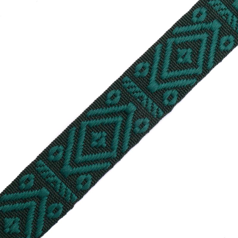Band Jaquard | dark khaki - dark green | 4 cm breed