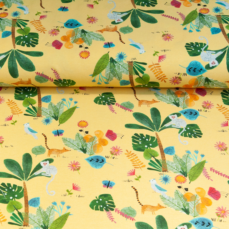 Tricot print | Jungle  - Swafing | Yellow
